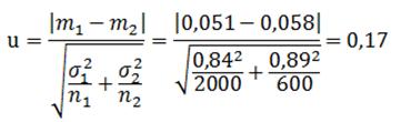 Exemple - Statistique de test - Test de moyenne